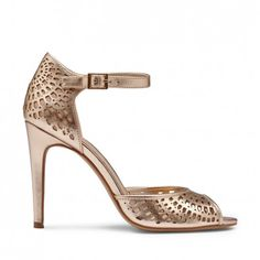 Rose Gold / Bronze Metallic Heels