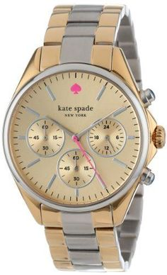 Kate Spade Watches Women's 1YRU0200 Two Tone Seaport CH | Wow, just gorgeous!