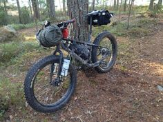 Kona WO fat bike packing | Flickr - Photo Sharing! Also made for cycling on snow! #fatbike #bicycle