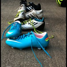 My soccer cleats through the years