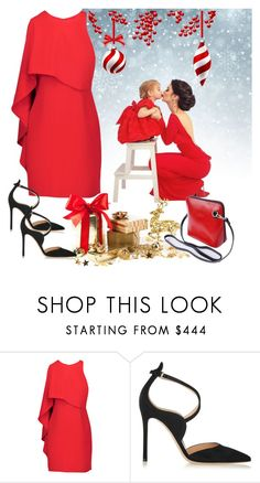 """""""Christmas Photo"""" by tia2 ❤ liked on Polyvore featuring Halston Heritage and Gianvito Rossi"""