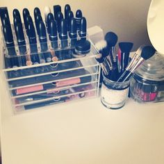 Source: Alissa | Beautiful and Inspiring Makeup Storage Ideas on Pinterest | POPSUGAR Beauty Australia Photo 13
