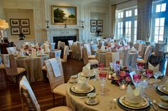 Entertaining Women: Farewell, Downton Abbey, February 29, 2016 - a charity fundraiser - large group dining