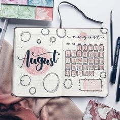 Too early say welcome august.… Too early say welcome august. Bullet Journal Monthly Spread, Bullet Journal Notebook, Bullet Journal Ideas Pages, Bullet Journal Layout, Bullet Journal Inspiration, Book Journal, Journals, Doodle Inspiration, August Bullet Journal Cover
