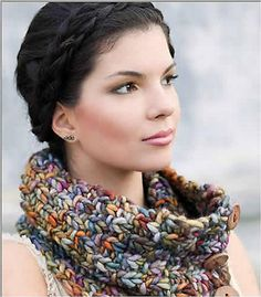 Rasta Neckwarmer by Breean Elyse Miller is knit with Malabrigo Rasta on US 17 needles