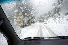 Driving in Snow royalty-free stock photo