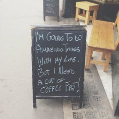 amyvnorris:  thank you for my new life motto, intimidatingly cool coffee shop (at The Fleet Street Press)