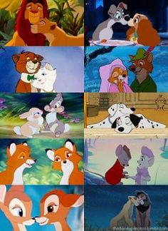 Disney animal couples by sarahx