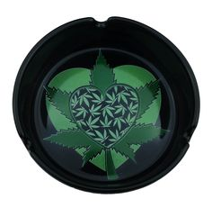 Cannabis Heart Ceramic Ashtray.  Smoke to your heart's content.