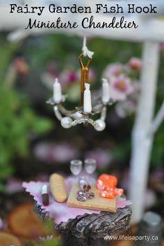 How to make a fairy garden miniature chandelier