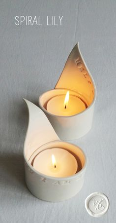 - Folksy Best Picture For white candle holders For Your Taste You are looking for something, and it is going to tell you exactly what you are looking Minimalist Candle Holders, Minimalist Candles, Diy Clay, Clay Crafts, Tea Light Candles, Tea Lights, Clay Candle Holders, Origami Candle Holder, Candle Holder Decor