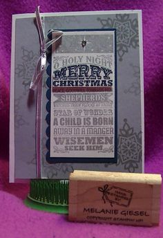 Beautiful card by Melanie Giesel featuring the O Holy Night stamp Single Stamp.