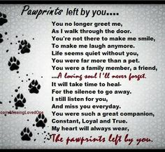 Paw Prints Poem | Email This BlogThis! Share to Twitter Share to Facebook