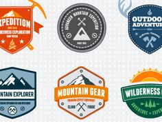Dribbble - Mountain Badges by Mike McDonald