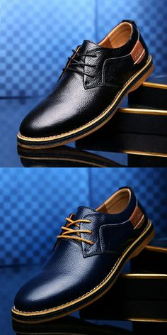 a3ad139e9f58a Sell on Amazon Prelesty Business Shoes Genuine Leather Men's Shoes Inner  Wings .
