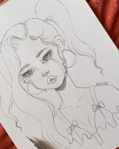 Art Drawings Sketches Simple, Pencil Art Drawings, Cartoon Drawings, Easy Drawings, Canvas Art Projects, Art Inspiration Drawing, Cartoon Art Styles, Art Sketchbook, Cute Art