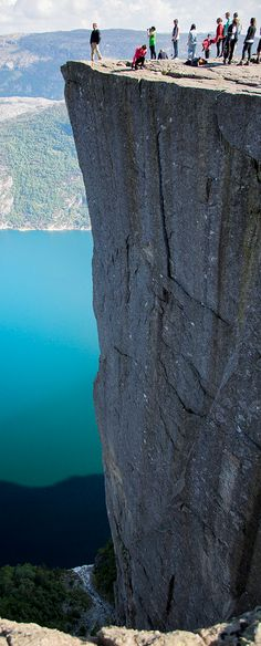 Pulpit Rock 604 meter down in Rogaland County, Norway http://www.visitnorway.com/preikestolen
