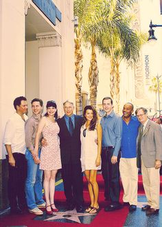 NCIS cast at the ceremony where Mark Harmon received a star on the Hollywood Walk of Fame.
