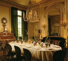 The former dining room of the great couturier Hubert de Givenchy in his Parisian mansion