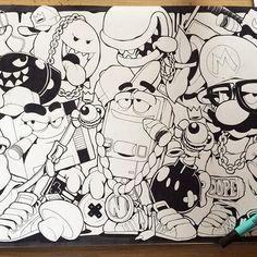 Nintendope... ⬇️,R,⬆️,L,Y,B .... #cheo #sketch #Nintendo