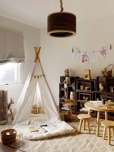 A teepee fortress is a playroom must.