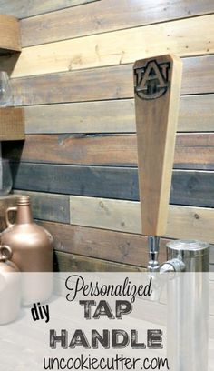 Personalized Tap Handle - May Silhouette Challenge - Uncookie Cutter
