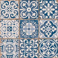 Azulejos Portugueses click now for info. Moroccan Tiles, Turkish Tiles, Moroccan Pattern, Moroccan Decor, Blue Tiles, White Tiles, Art Nouveau, Art Deco, Wall And Floor Tiles