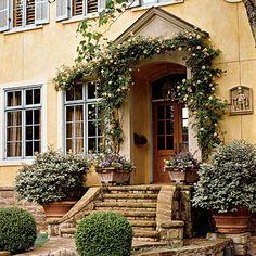 beautiful outdoor entry idea