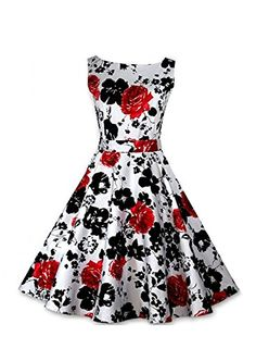 Anni Coco Women's 50s Vintage Printing Swing Dresses Red Large Anni Coco http://www.amazon.com/dp/B00WJADARE/ref=cm_sw_r_pi_dp_tEEovb1R0469N