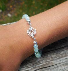 Swarovski crystal and sterling silver bracelet by ParkhillDesigns on Etsy