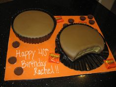 Reese's Peanut Butter Cups Cake | CAKES - Your Fondant Cake Design Destination: Reeses Peanut Butter Cup ...