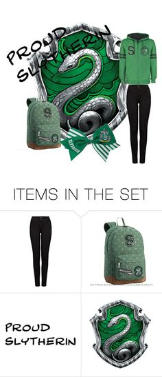 """Slytherin pride 🐍🐍🐍"" by panicpilot ❤ liked on Polyvore featuring art"
