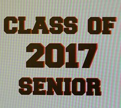 School Calss of 2017 Car Decal, Class of 2017 Yeti Decal, Class of 2017 Window Decal, Class of 2017 Vinyl Decal, senior decal, by DecalZoneStore on Etsy