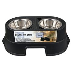 OurPets Comfort Diner Elevated Dog Food Dish (Raised Dog Bowls Available in 4 inches, 8 inches and 12 inches for Large Dogs, Medium Dogs and Small Dogs) Large Dogs, Small Dogs, Raised Dog Bowls, Healthy Pets, Pet Bowls, Medium Dogs, Food Dishes, Dog Food Recipes, Image Dog