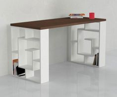 Pracovný stôl Labirinth White Wenge - Vivre