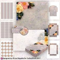 Rose Posy A6 Stationery Kit on Craftsuprint - View Now!