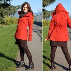 The Minoru Jacket. A cute pattern, though a bit beyond my skill at this point. But I love the hoodie collar 2-in-1 look.