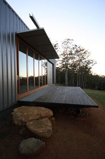 australian bush shack - brilliant idea for steps