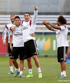 Entrenamiento del Real Madrid | Cristiano Ronaldo, James Rodríguez & Marcelo.