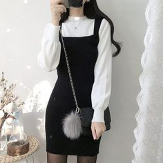 Korean Fashion – How to Dress up Korean Style – Designer Fashion Tips Korean Girl Fashion, Ulzzang Fashion, Kpop Fashion Outfits, Asian Fashion, Girl Outfits, Kawaii Fashion, Cute Fashion, Cute Casual Outfits, Pretty Outfits