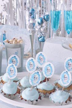 FROZEN IN ELSA BLUE | ARCH DAYS Frozen Birthday Party, Frozen Party, Birthday Parties, Elsa, Baby Shower, Disney Princess, Cake, Desserts, Arch