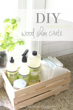 Keep your counters organized with this DIY wood shim crate! #shims #woodshims #nelsonwoodshims >> Nelson Wood Shims