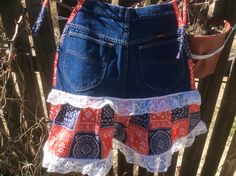 Country western Jean apron by TaraThings on Etsy