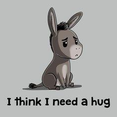 I Think I Need A Hug T-Shirt Shrek TeeTurtle