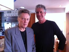 Christopher Walken and Anthony Bourdain