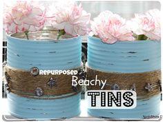 Repurposed Beachy Tins