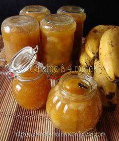 """La confiture de bananes à la vanille de Kouky du blog """"Cuisine à 4 mains"""" inspirée du blog """"Mamou & Co"""""""