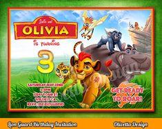 La Guardia del León Invitación para cumpleaños  archivo