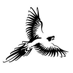 Logo using negative space.