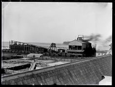 Stockton Colliery operated from 1884 to 10 January South Australia, Western Australia, Library University, Newcastle Nsw, Coal Mining, My Town, Tasmania, Old Photos, Past